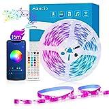【15M】Luces led Habitación WiFi, Maxcio Tiras Led RGB Compatible con Alexa y...