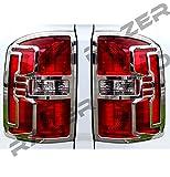 Razer Auto Triple Chrome Plated Taillight Trim Bezel Cover for 2014-2016 GMC Sierra 1500, 2015-2016 GMC Sierra 2500/3500/HD Non-Denali