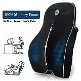 Villsure Lumbar Support Pillow, Memory Foam Back Cushion with...