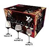 [正規品] RIEDEL リーデル ワイングラス 6個セット エクストリーム カベルネ2個+ピノ・ノワール2個+リースリング2個 クリア 7441/66
