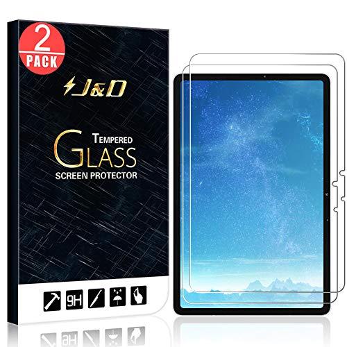 J&D Compatible para Samsung Galaxy Tab S7 Protector de Pantalla, 2-Pack [Vidrio Templado] [NO Cobertura Completa] Cristal Templado Protector de Pantalla - [No para Galaxy Tab S7 +/Tab S7 Plus]