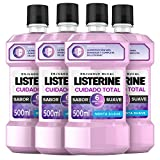 Listerine Enjuague Bucal Cuidado Total Zero - 500 ml - [paquete de 4]