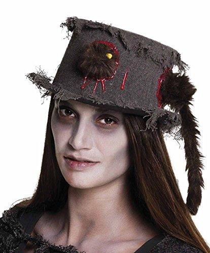 Cappello tuba becchino Ratan con topo infilzato