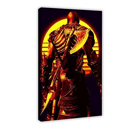 Póster de God of War Kratos Game Art 34 Lienzo decorativo para pared, impresión de cuadros para sala de estar o dormitorio, 30 x 45 cm, estilo de marco 1