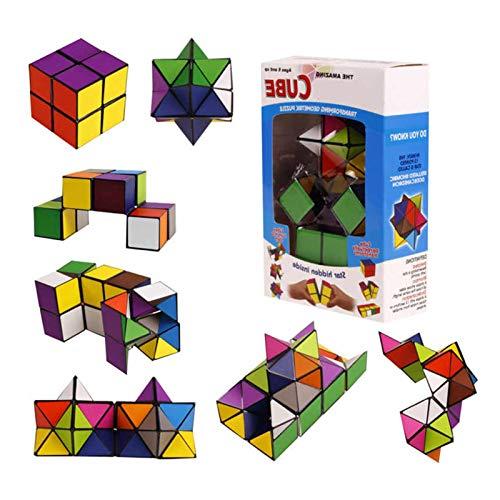 Cubo Infinit, Cubo De Estrella Mágica 2en1, Cubo Infinito, Superficie Lisa, Sólido Y Duradero, Rompecabezas De Cubo Mágico De Descompresión Creativa Para Viajes De Fiesta, Juguete Para Niños Y Adultos