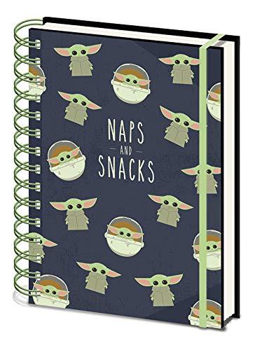 Cuaderno A5 en espiral – Star Wars: The Mandalorian (Snacks and Naps)