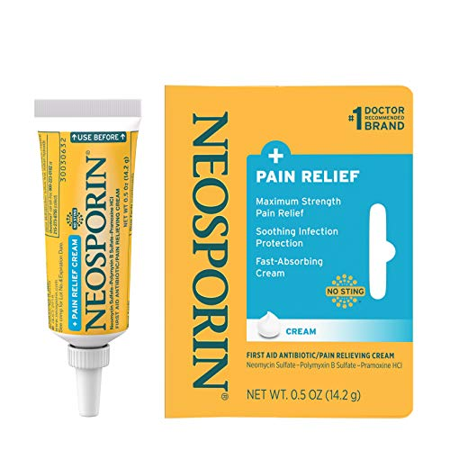 Neosporin  MaximumStrength Pain Relief Dual Action Antibiotic Ointment with Bacitracin Zinc 05 Ounce Pack of 2