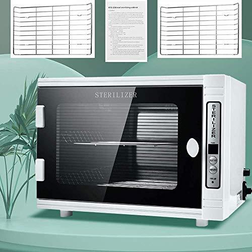 4YANG UV-Desinfektionsschrank UV-Desinfektionsbox aus Edelstahl Drei Timing-Modi medizinische Sterilisatoren Ultraviolett & Ozon 360 ° für Salon-Sterilisatorschränke