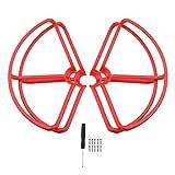 HONGYI Hélice CW CCW Hélice for Mi Drone 4K Version RC de Protection Garde Guard for Props mi 4k 1080P Pare-Chocs Quadcopter Blades Accessoires Drone Accessoires ( Color : Red Prop Guard )
