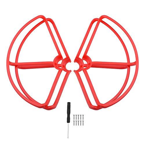 HONGYI Elica CW CCW Elica for Mi Drone 4K Versione RC Guardia di Protezione Props Guard for Mi 4k 1080P Paraurti Quadcopter Lame Accessori Accessori Drone ( Color : Red Prop Guard )