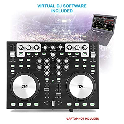 Power Dynamics PDC09 2 Channel USB MIDI Controller Mixer & Sound Card Inc Virtual DJ Software