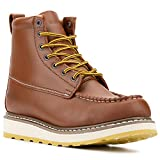 ROCKROOSTER DIE Hard – SURETRACK Men's 6'' Leather Slip Resistant Durability Breathable Work Boots 84994 D 8