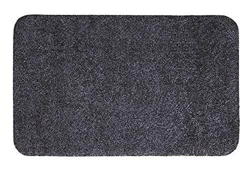 andiamo Fußmatte Samson Türmatte Sauberlaufmatte für Innen- und überdachter Außenbereich waschbar mit rutschfester Unterseite 50 x 80 cm anthrazit