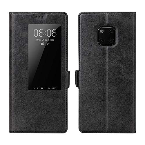 Eastcoo Kompatibel Huawei Mate 20 Pro Tasche Schutzhülle Handyhülle Hülle Premium PU Leder Smart Flip Hülle mit [Wake up][Standfunktion][Magnetic Closure] (Mate 20 Pro, A-Black)