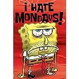 Pirmide Internacional I Hate Mondays Pster de Bob Esponja Maxi, Multicolor, 61x 91,5x 1,3cm