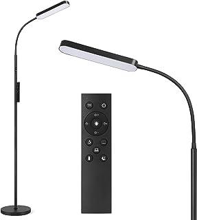 Anten Katarina | LED lampadaire noir dimmable | panneau de LED 15W inclus | lampadaire | 3000K - 6000K blanc chaud - blanc...