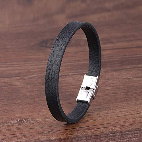 FISH4 6Mm Natural Stone Men Bracelet Multi-Layer Handmade Weaved Leather Rope Chain Stainless Steel Bangle Male Jewelry Gifts