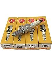 1台分4本セット ZZ-R1200 / ZZ-R1100 / ゼファー1100 / ゼファー1100 RS / Ninja 6R / ZX-6R / ZZ-R600 / GSX1300R ハヤブサ ~2007y / GSX-R1000 00y~06y / RF900RR / GSX-R750 95y12~07 / FZS1000 / FZ-1 / YZF-R1 98y~01y NGK (エヌジーケー) スパークプラグ CR9E 【6263】