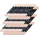 Paquet de 50 brosses à usage unique de fard à paupières double face Pinceau fard à paupières éponge Incliné ovale pinceau de maquillage Maquillage applicateur