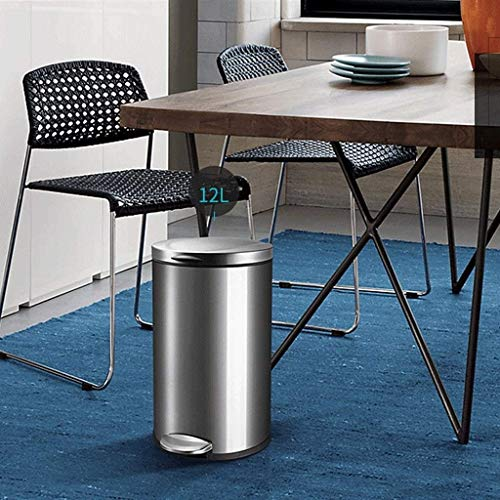 Haojie Europäischer Stil Haushalt Edelstahl Mülleimer Pedal Typ Runde Abdeckung Pedal Große Küche