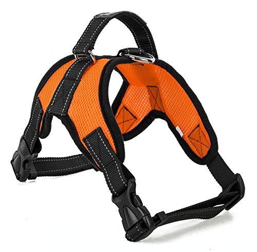 Arnés para perros Dog Supplies Pet Dogs Harness Collars Vest Dog Harness pet products Arnés para gatos (Color : Mesh Orange, Size : Small)
