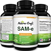Pure SAM-E Nootropic Brain Supplement - Natural Brain Booster From Mood Support S Adenosyl Methionine - SAM E Anxiety Supplements and Memory Pills for Mood Boost and Joint Health
