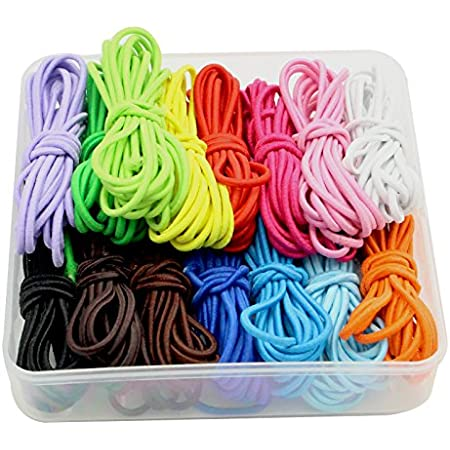 2mm Elastic String for Elastic Hair Rope Making Multicolor 35m Stretchy Bracelet String Bead Cord for Bracelet Beading and Jewelry Making