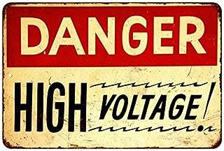 Danger High Voltage Vintage Look Reproduction 8x12 Metal Sign 8120794