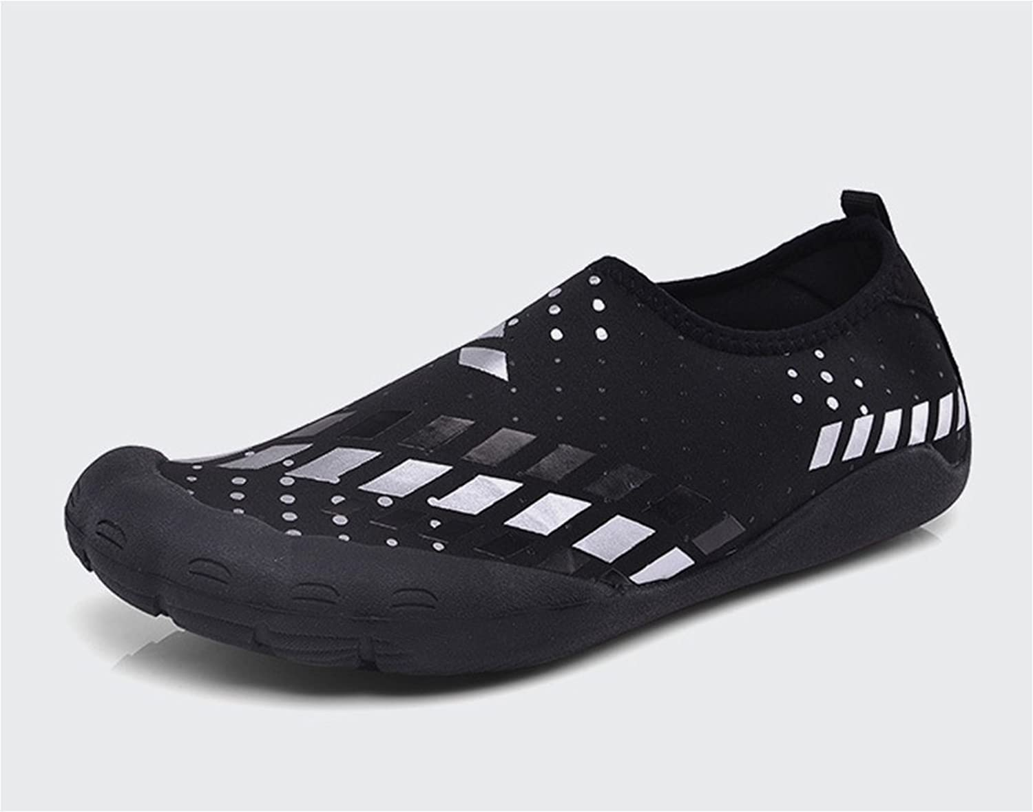 RENMEN Outdoor breathable wear-resistant five-finger shoes fitness upstream wading toe shoes 39-45, black white