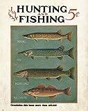 TNND Mosky Walleye Cubierta de revista de pesca vintage señuelos de caza, decoración de la pared, decoración del hogar, día del padre, regalo de cumpleaños, signos de metal, 30 x 40 cm