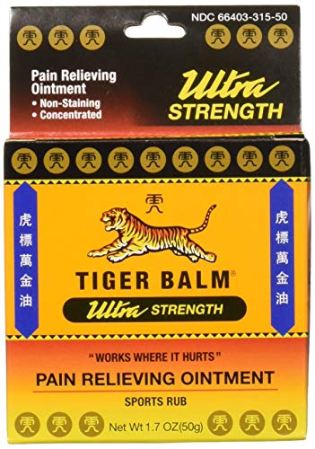 Tiger Balm Sport Rub Pain Relieving Ointment, Ultra Strength 1.70 oz (Pack of 4)