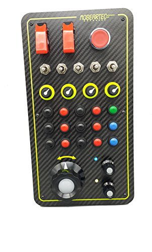 Mobeartec Racecontrol Pro - USB Simracing Buttonbox für iRacing, Assetto Corsa, Raceroom Racing Experience, Project Cars 2, Rfactor 2, Dirt Rally, Truck Simulator UVA. inkl. Beschriftungsbogen