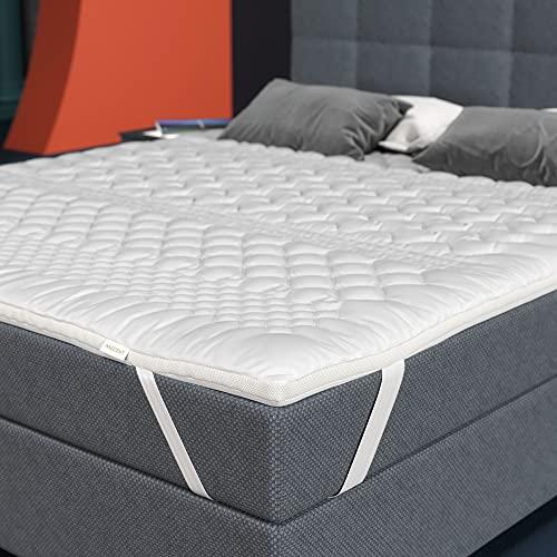 INNOCENT® 7-Zonnen-Microfaser-Matratzenauflage 160x200 cm | 3D-Air für Matratzen & Boxspringbett | Hautfreundliche Matratzen-Schutzauflagen mit 4cm Höhe | Matratzenschoner | Topper für Wohlfühlgefühl