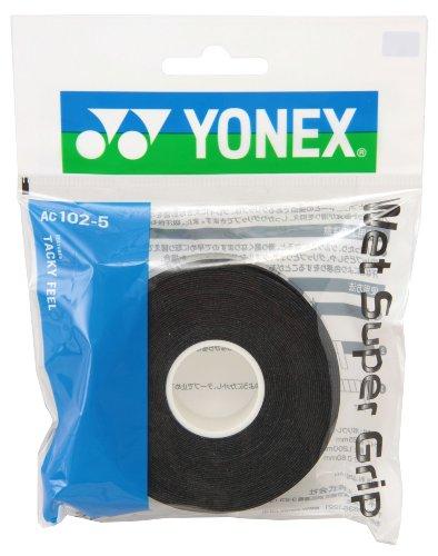 ヨネックス(YONEX) テニス バドミントン グリップテープ ウェットスーパーグリップ 詰め替え用 (5本入り) AC1025 ブラック