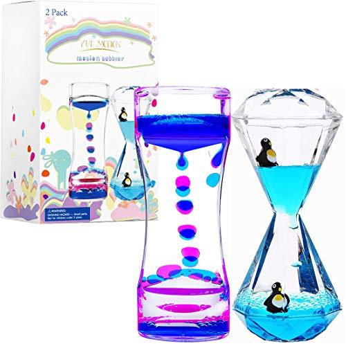 LIVOND Calming Sensory Toys, Fidget Sensory Toys for Autistic Children, Desk Accessories, Holiday Stocking Stuffers (Blue+Penguin Timer)