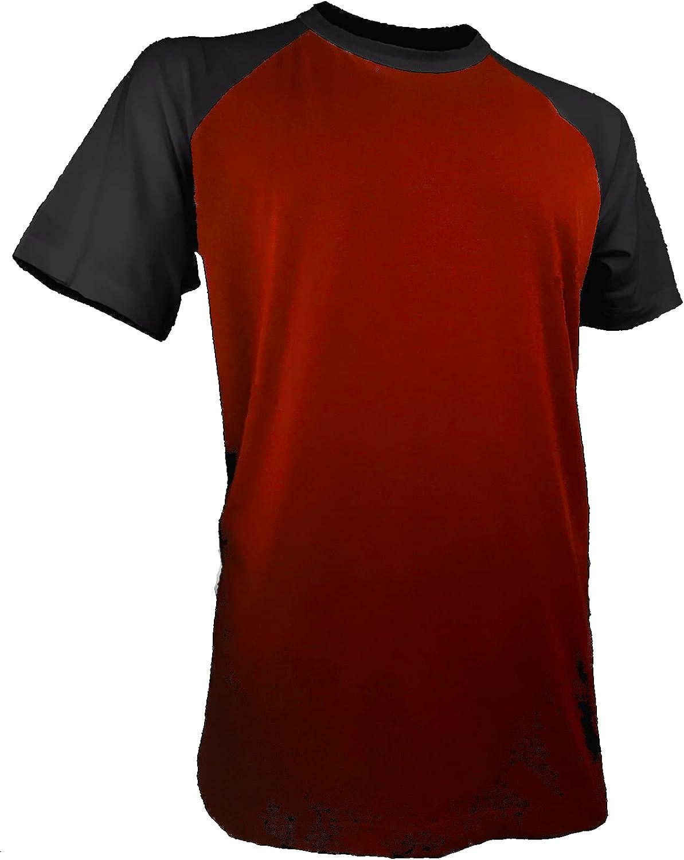 Styllion Big and Tall - Raglan Baseball Short Sleeve Shirts for Men - Heavy Weight - RCSS