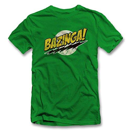 Bazinga 03 Vintage T Shirt T-Shirt Gruen-Green 2XL