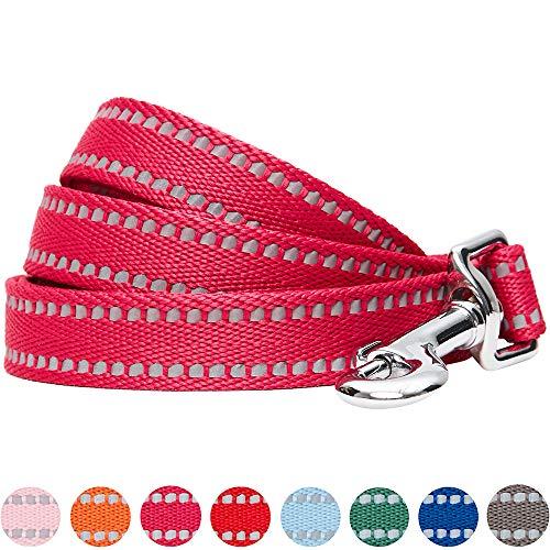 UMI. Essential Stabile, pastellfarbene, reflektierende Hundeleine 150x2cm in Beerenrot, Medium, Leinen für Hunde