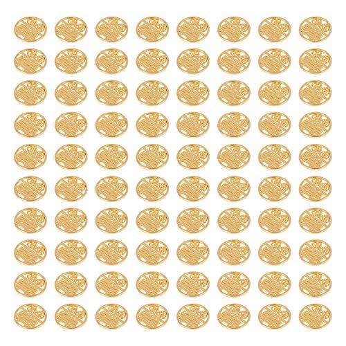VILLCASE 100 Piezas de Colgantes de Joyería para Bodas Chinas DIY Colgantes de Aleación Decorativos para Hacer Cuentas 2021 Regalos de Año Nuevo Chino (Dorados)
