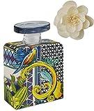 Maroc & Roll - Sicily Bottiglia Grande DIFFUSORE Profumo Ambiente in Porcellana con Fiore di Corteccia di GELSO 375ml - SBTMAXI.B&R03