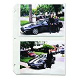 Protect your 5 x 7 inch photos Overall page size is 11-1/4 x 8-1/8 inches Standard size three-ring binders are recommended for these pages Holds 4 - 5 x 7 inch photos; APS compatible Polypropylene