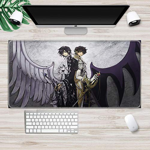 Gaming Mouse pad Code Geass Gaming Mouse pad Hd Pattern Gaming Mouse Pad Accessories Fashion Laptop Padmouse Ergonomic Mat D XL(30x80cm)