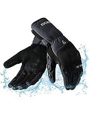 RunSnail Motorhandschoenen winter touchscreen, waterdichte winddichte warme lange manchetten handschoenen heren dames voor motorfiets, bromfiets, scooter, quad en andere outdoorsporten - M/L/XL