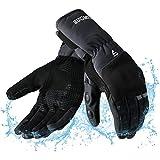 guanti moto invernali impermeabili touchscreen, antivento caldo guanti para motociclista, scooter, ciclomotori, motocross, bici, escursionismo invernali, sport all'aria aperta - xxl grigio