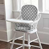 Carousel Designs Gray and White Polka Dot High Chair Pad