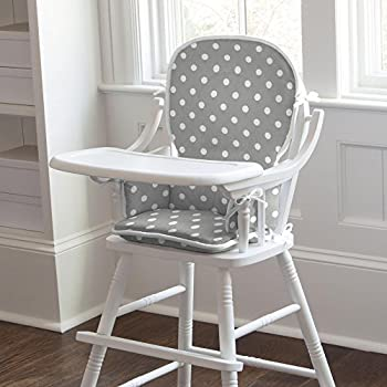 Carousel Designs Gray and White Dots and Stripes High Chair Pad