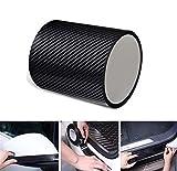 KSTORE 5D Nano Fibra Carbono Etiqueta engomada del Coche película Protectora Adhesiva travesaño Puerta de Cabina de protección del travesaño de Cuerpo Completo de Vinilo Pegatinas Accesorios,5cmx3m