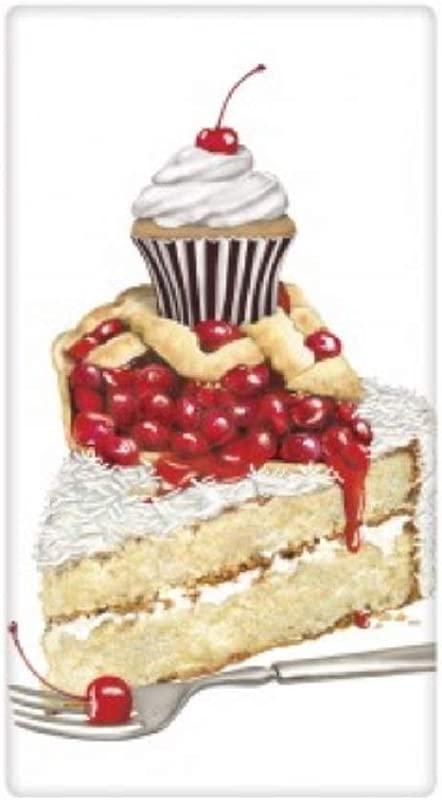 Mary Lake Thompson Flour Sack Towel Desserts Coconut Cake Cherry Pie Cupcake