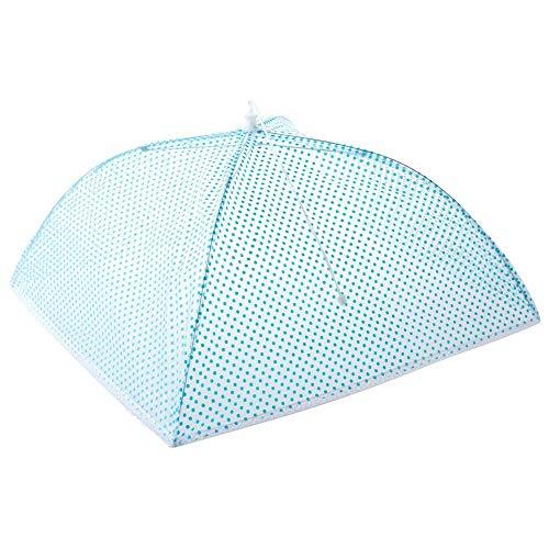Alimentos Cúpula Plegable de la Cubierta de la Red de Paraguas de Malla de la Pantalla de la Alimentación Protector de Alimentos de Cocina de la Cubierta de la Bandeja de la Mesa de la Herramienta Kichen azul