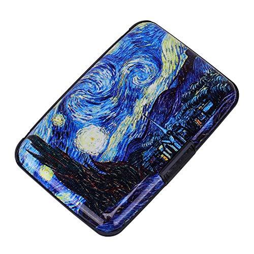 Elfish RFID Blocking Credit Cards Holder Aluminum Wallet Metal ID Case for Men Women (see moon)